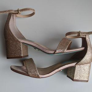 Betsey Johnson rose gold sandal Size 5.5